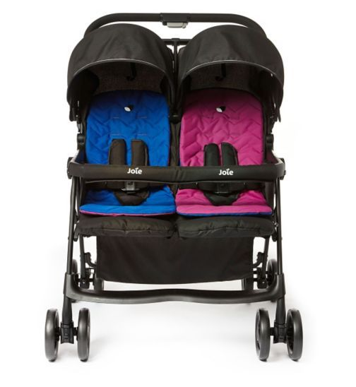 Joie AIRE Twin stroller - PinkBlue | Pushchairs - Boots