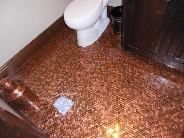 37 best penny floor images on pinterest pennies floor penny flooring and flooring ideas - Incredible uses for copper pennies ...