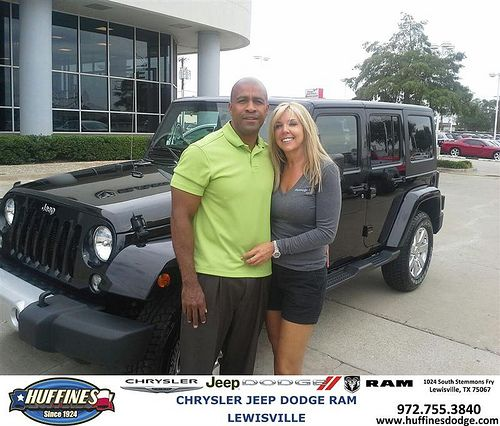Thank you to Sandra Romero on your new 2014 Jeep Wrangler Unlimited from Leon Speight and everyone at Huffines Chrysler Jeep Dodge Ram Lewisville!