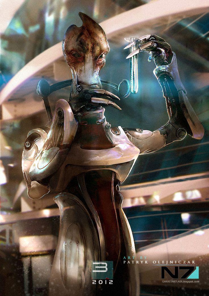 Mordin Solus from the Mass Effect series - done by patryk-garrett on deviantart