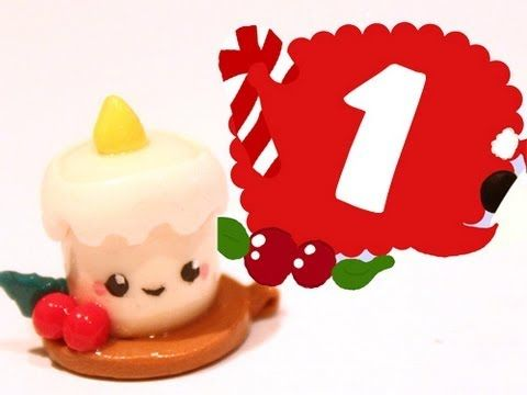 ▶ ❤ Candle! Kawaii Christmas 1 -Polymer Clay tutorial - YouTube