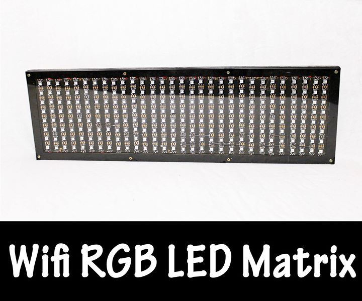 Wifi RGB LED-Matrix Check out the full project http://ift.tt/2g8jzCV Don't Forget to Like Comment and Share! - http://ift.tt/1HQJd81