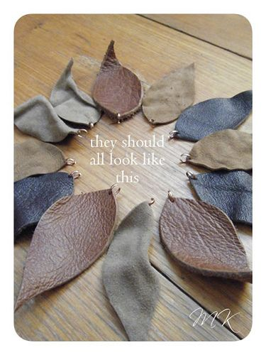 Make leather leaf necklace from leather scraps in 20 minutes