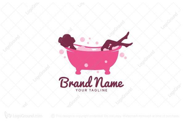 Bubble Bath Logo Beauty Logo Design Bubble Bath Logos