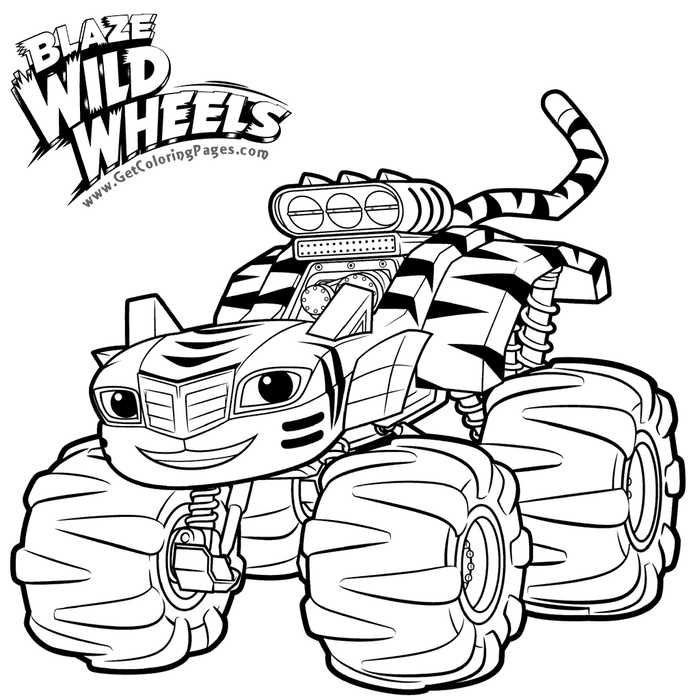 Blaze Coloring Pages Stripes In 2020 Truck Coloring Pages Monster Truck Coloring Pages Kids Printable Coloring Pages