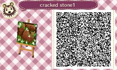 Dalles : pierres marrons.