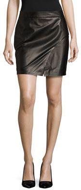 Sienna Leather Asymmetrical Pencil Skirt, Rock, black, schwarz, Leder Outfits, Ledermode, Leather, Fashion, Dress