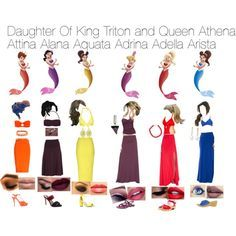 The daughters of King Triton and Queen Athena.