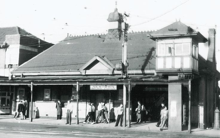 Newtown Station. 1954