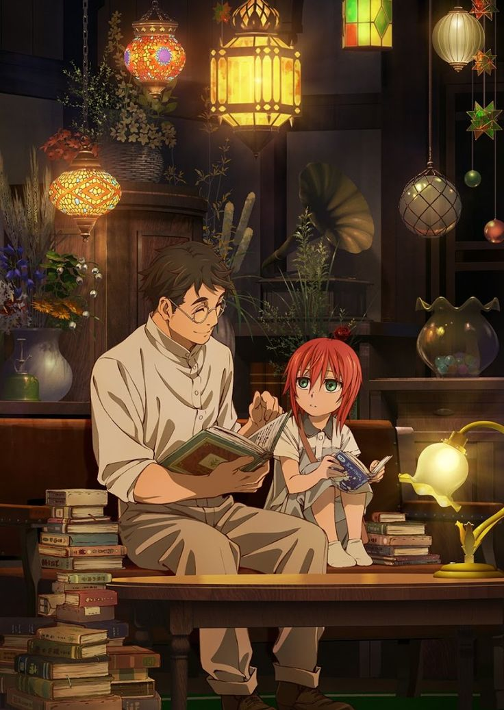 The Ancient Magus Bride|| OVA Trailer's poster || Young Chise and the wizard of the forest ~