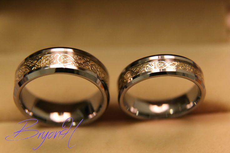 Tungsten Wedding bands set Matching size Tungsten by BryonHshop