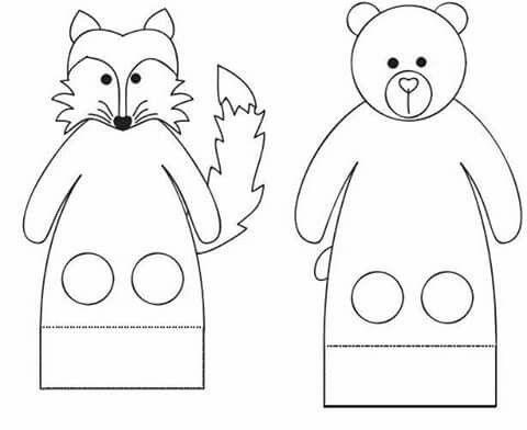 пальчиковые куклы картинки шаблоны например