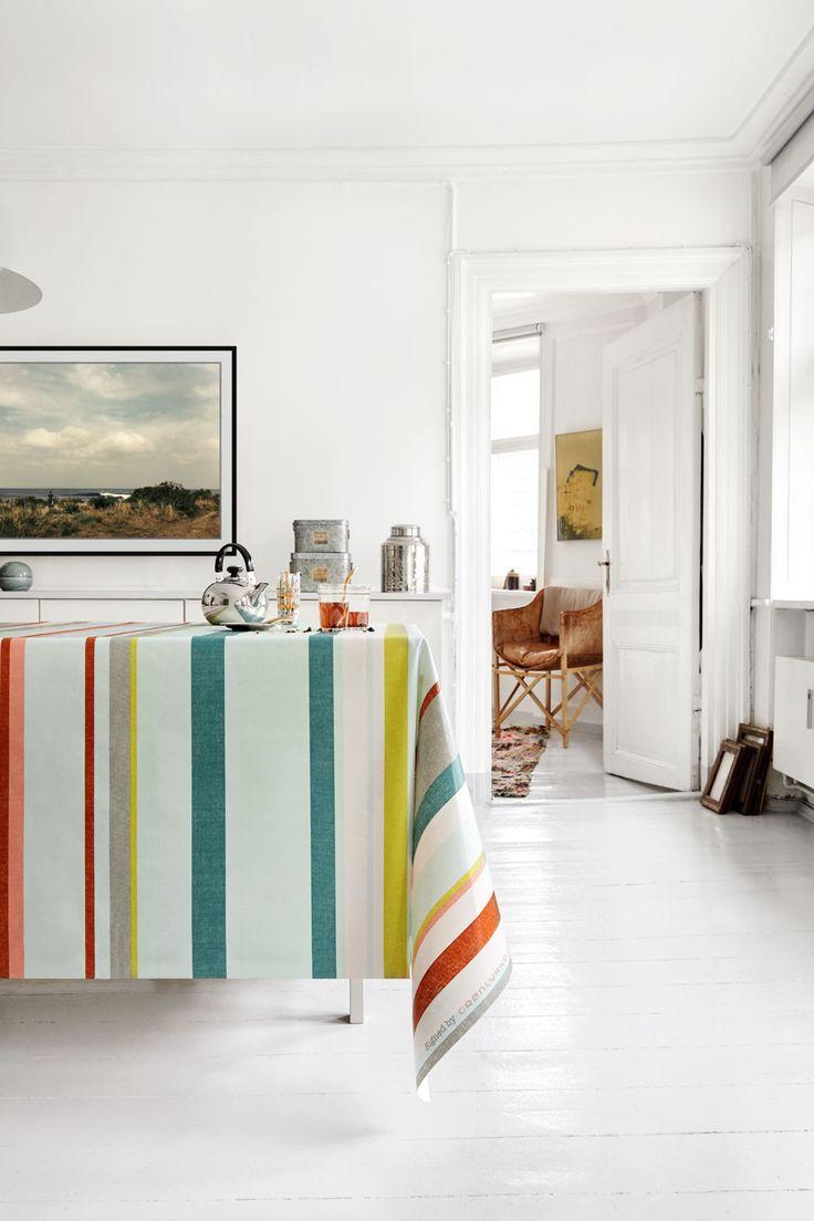 Almost Linen Oilcloth Oriental Stripes. Buy online.