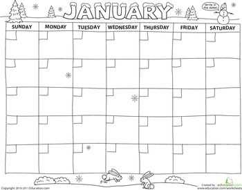 25 best ideas about Blank Calendar
