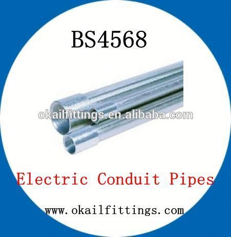 Hot galvanized BS4568 Carbon Steel Pipe Manufacturer