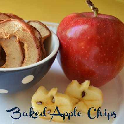 Baked Apple Chips.. fun to try with the kids