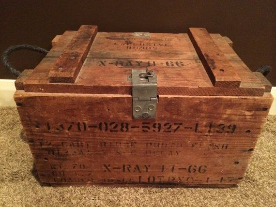 Vintage Wood Explosive Bomb Tnt Crate X Ray Box Bombs 2 66 Military Air Force Army