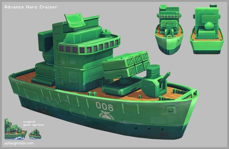 Advance Wars Cruiser, Ashleigh Warner on ArtStation at http://www.artstation.com/artwork/advance-wars-cruiser