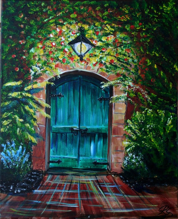 Renatau0027s Green Door - Painting with a Twist. Need to show more of the top & 39 best Painting with a Twist Completed images on Pinterest ... pezcame.com