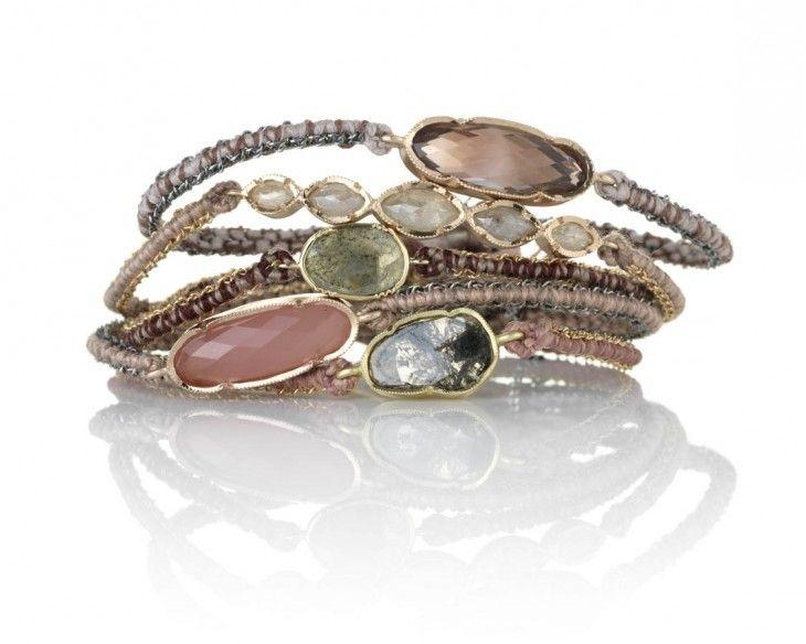 Bracelets en or, pierres fines et diamants
