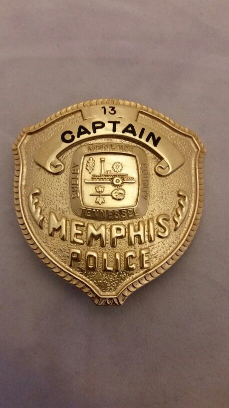 Memphis Tenn Police Captain badge. Years used 1960's to late 70's