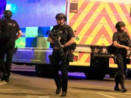Bloody attack at an Ariana Grande concert in Manchester, U.K.