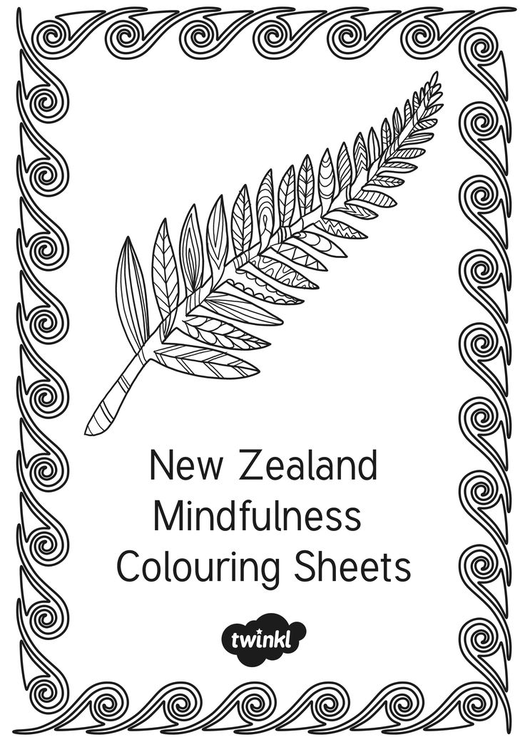 New Zealand themed mindfulness or adult colouring sheets from twinkl.co.uk