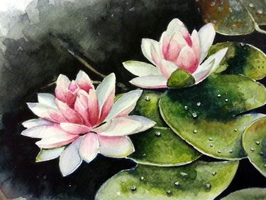 "Saatchi Online Artist Berrin Duma; Painting, ""Lotus"" #art"