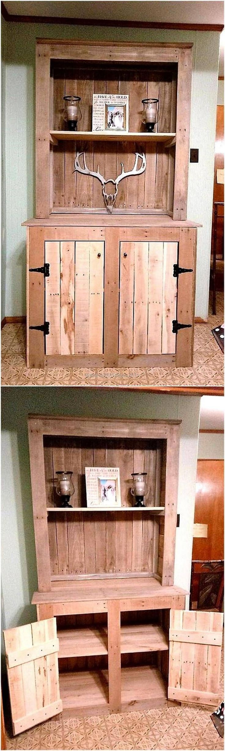 Now become a carpenter and craft these wonderful wood pallet projects on your own. These DIY motive wardrobe plans are simple and handicrafts to construct for the renovation of your home as well as to fulfill your storage needs in an economical way. The amazing thing in useless wood pallets is that they provide us #WoodProjectsDiyDecor
