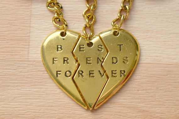 Gold Best Friends Forever Keychain  Friendship Keychain  Bff