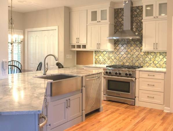 Cliqstudios Painted White Kitchen Cabinets In The Dayton Style Kitchen Pinterest The O