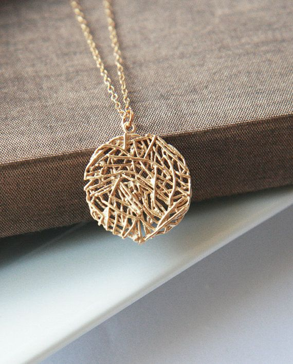 Long Necklace Pendant Necklace Long Layering by lilabelledesign