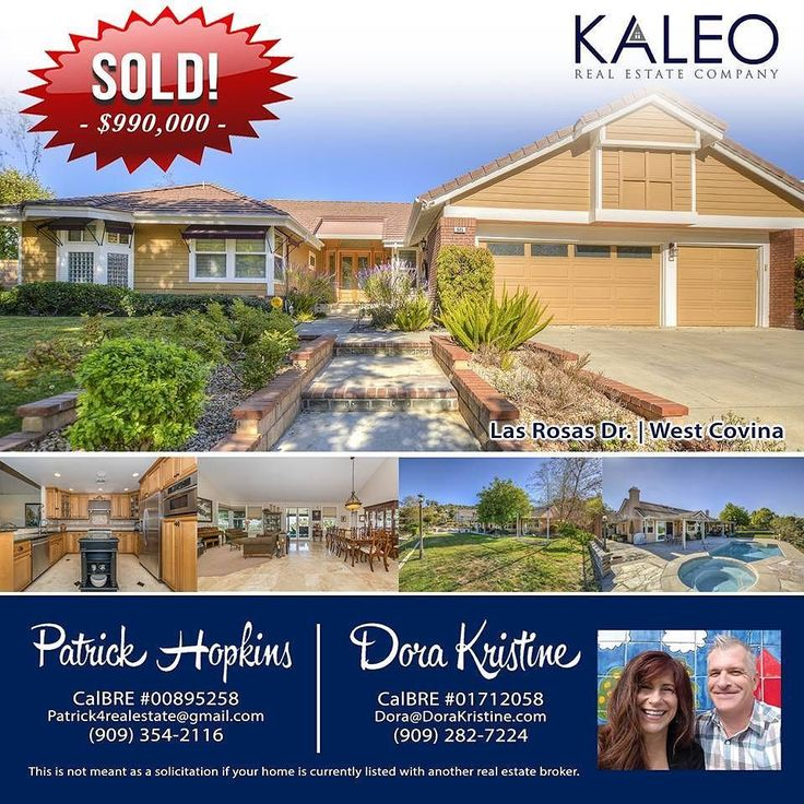 SOLD in West Covina!  Congrats Dora Kristine & Patrick Hopkins on selling this beautiful home!  Give them a call!  Dora Kristine (909) 282-7224 Patrick Hopkins (909) 354-2116 #kaleorealestate #westcovina #kaleo #claremont #laverne #sandimas #glendora #realestate #home #house #buy #sell