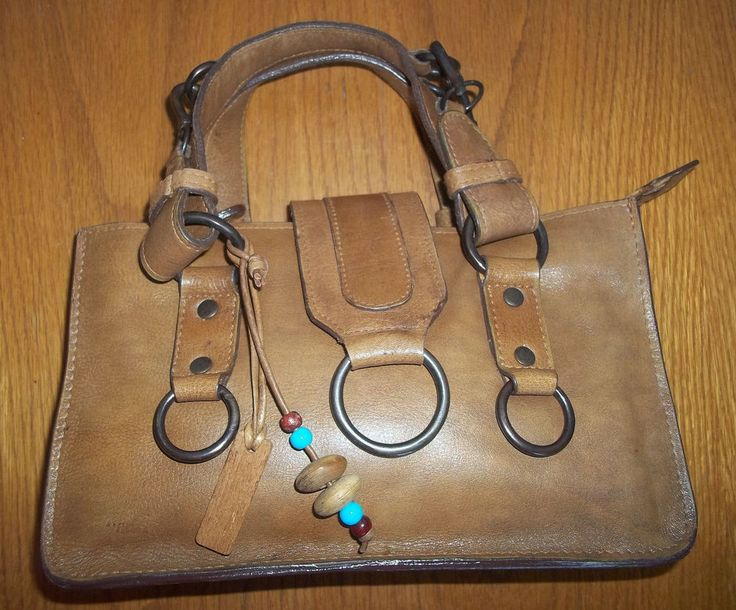 HIDESIGN MID BROWN 100% LEATHER HANDBAG - BEAUTIFUL CONDITION! #Hidesign #Totes