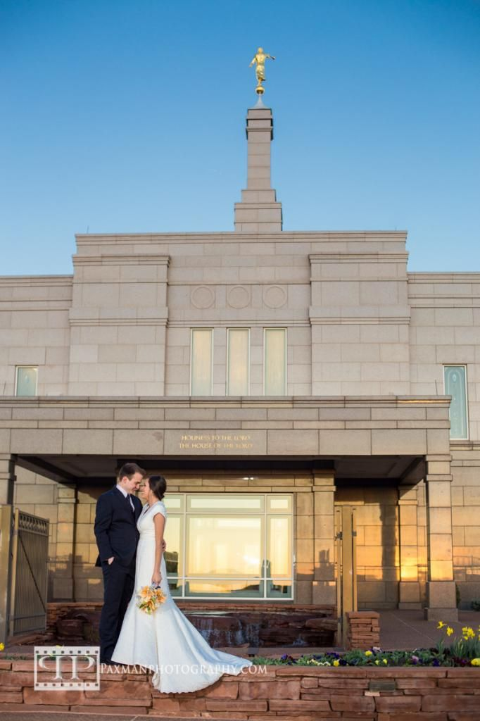 Brad and Venesa's LDS Snowflake Arizona Temple Wedding  #LDSWEDDING #Templewedding #paxmanphotography