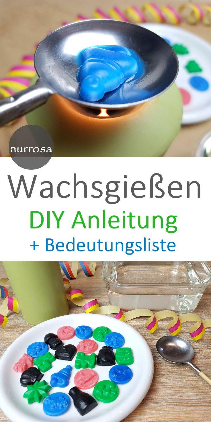 Wachsgießen Silvester DIY Anleitung für den Blic…