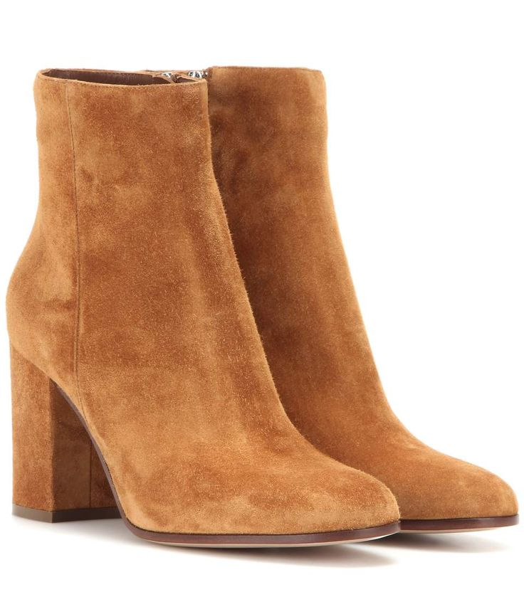 Bottines en daim noisette