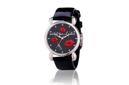 Lulu Guinness Don't Forget Your Lipstick Watch for £36.98 (75% off).