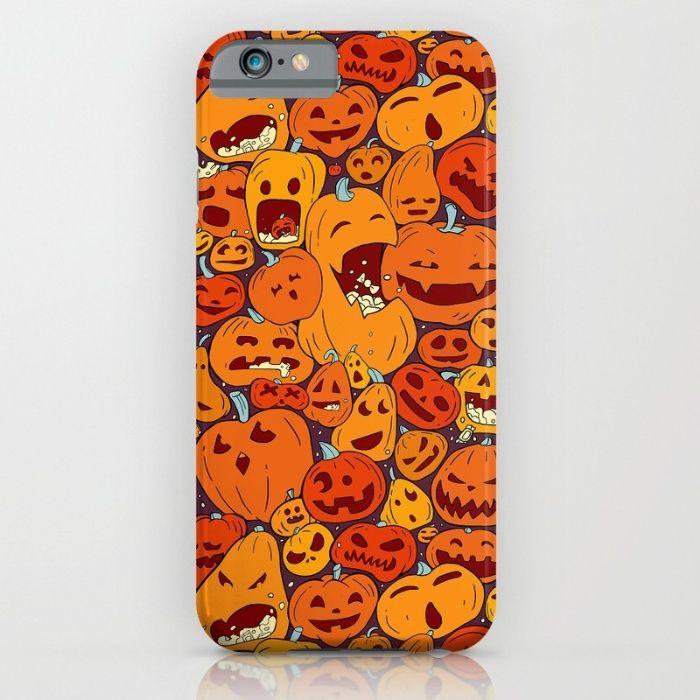Halloween pumpkin pattern iPhone & iPod Case by StrijkDesign | Society6