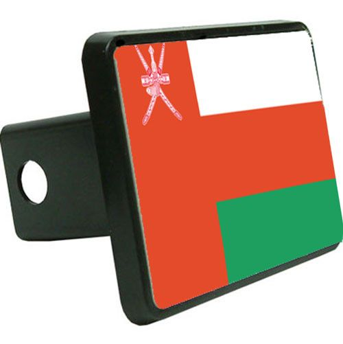 Oman Flag Trailer Hitch Cover