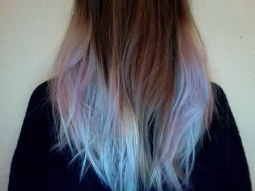 i love this periwinkle lavender thang going on with the dip dye