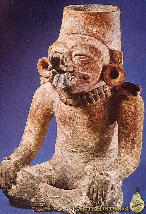 Urna funeraria con el dios Cocijo. Cultura Zapoteca (Oaxaca, México) Autor: Fecha: 200-350 Museo: Museo Nacional de Antropología de México