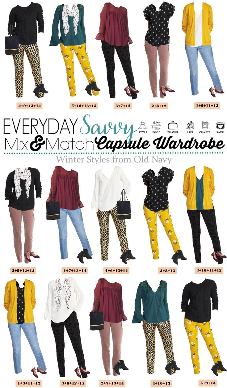 These Mix & Match Winter Outfits From Old Navy make it easy to get dressed each morning & look stylish. Easy to wear and a great price. via @everydaysavvy
