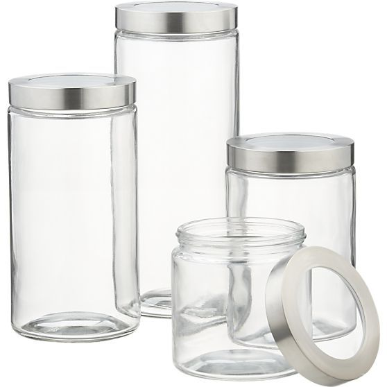 Glass Storage Containers with Stainless Steel Lids in Food Containers, Storage   Crate and Barrel