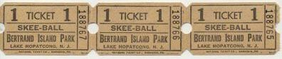 Bertrand's Island Roller Coaster | Skee-Ball Tickets, won by 'bowling' a ball into a small basket, could ...