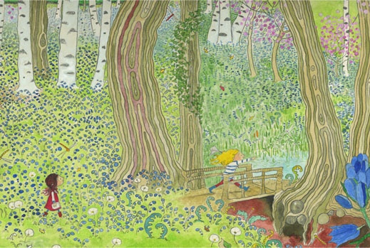 Gwen Millward Homepage - from The Bog Babies, a beautiful story and wonderful illustrations