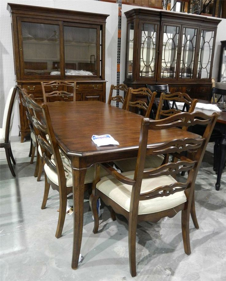 kincaid furniture clearance solid walnut dining set belfort furniture dining 7 or more