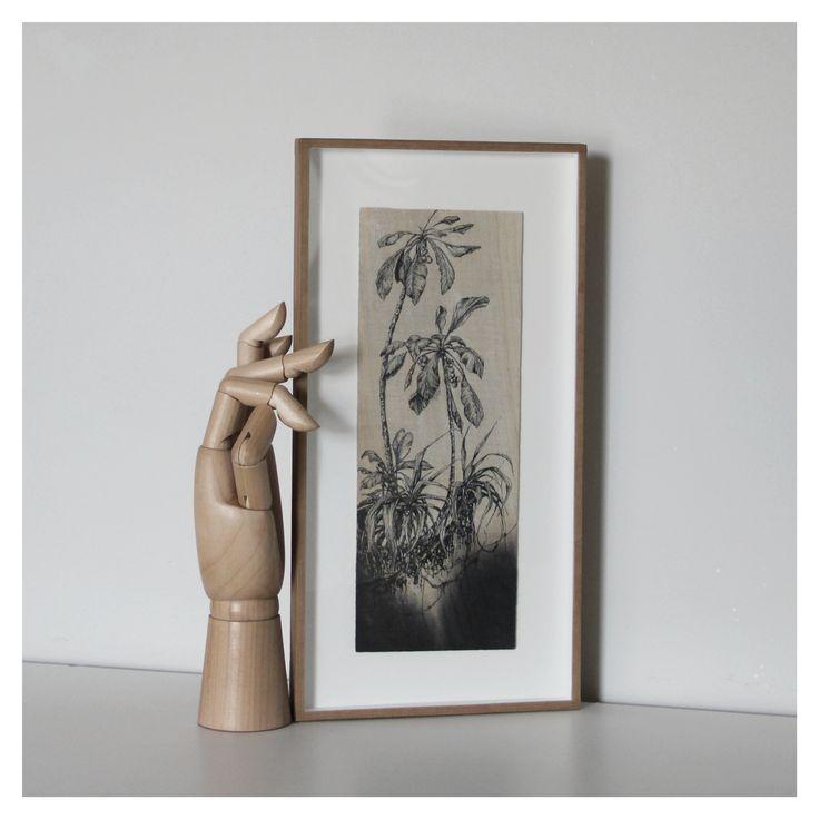 Serie Paraísos  14x32cm Ilustracion sobre tabla de pino  @rauldelsol
