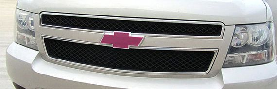 2 Pink Vinyl Sheets Wrap Chevy Bowtie Emblem Overlay Cover Decal, All Chevy Models on Etsy, $7.00
