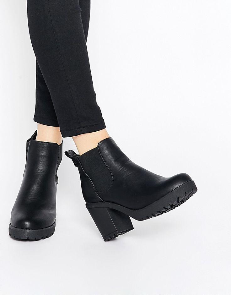 Truffle collection Ladies Faux Leather Chelsea Boots-Black-UK sizes 4-8-afficher le titre d'origine